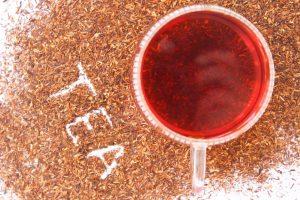 widok z góry herbaty czerwonej